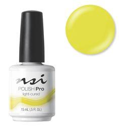 NSI Nails signature Gel Polish, Polish Pro - Lemon Twist! | Neon Nails