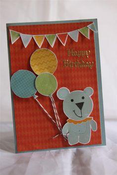 kaisercraft party animals card | Helens Card Designs