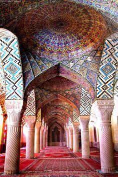 nasir ol-molk mosque, shiraz, iran built from 1876-1888. photo by hanif shaoei.