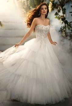 Ballerina tulle wedding dress