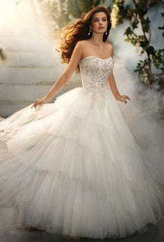 Ballerina tulle wedding dress