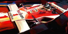 John Krsteski: James Hunt F1 James Hunt, Gilles Villeneuve, Car Sketch, Car Drawings, Automotive Art, Car Painting, Transportation Design, Fast Cars, Sport Cars