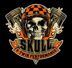 Logo design SKULL V-TWIN PERFORMANCE - Brazil...2016 !!!