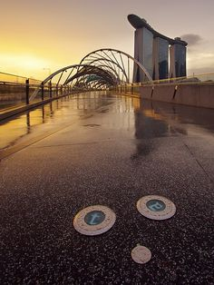 Marina Bay Sands from the Helix Bridge, Singapore