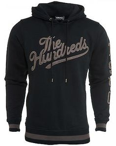 The Hundreds Court Pullover Hoodie Mens T15F202017-BLK Black Hoody Size L  The Hundreds eab65f13c