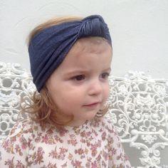 Retro jean / denim blue look girls baby kids by Blousiesboutique
