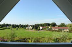 uitzicht vanuit recreatie woning slagdijk 1B 21 Havelte