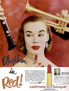 retro lipstick ad i need to find that red never can find whore red anymore 1950s Makeup, Vintage Makeup Ads, Retro Makeup, Old Makeup, Vintage Ads, Vintage Vanity, Vintage Magazines, Vintage Soul, Vintage Glamour