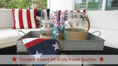 Chocolate Dipped 4th of July Pretzel Sparklers - MomSmack: Making you look good with as little effort as possible!