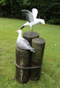 Animal Crackers Large Seagull indoor outdoor garden ornament nautical decoration bird lover gift