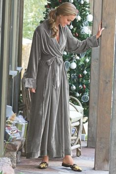 8a2b20193fa4 Indulge yourself in a glamorous robe – yards of frosted rayon silk velvet