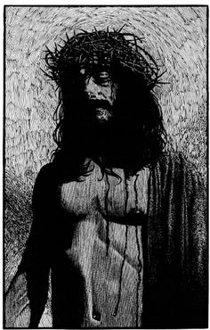"""""""Behold The Man"""" woodcut by Barry Moser available at the R. Michelson Galleries."""