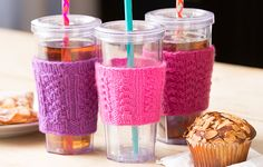 Try-a-Stitch Cup Cozies
