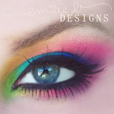 Bright colors are used to create this rainbow inspired look. Lush lashes are added to further open up the eyes. See the essentials used for inspiration.