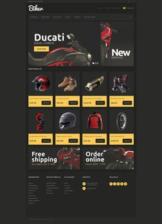 Emphasis on Bikers Individuality #Magento Theme #51110