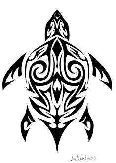 tribal turtle tattoo tattoos-3