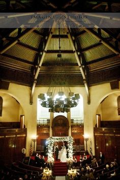 Synagogue Wedding. Photo by Imagine Studios