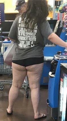 Walmart lady with flat ass