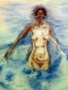 Girl at Sea (ORIGINAL WORK/OBRA ORIGINAL)