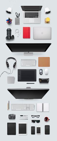 Designer Desk Essentials, vector graphics - 365PSD.com