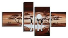 African Sunset Painting, African Painting, Living Room Wall Art, Canva – Silvia Home Craft Buy Paintings Online, Canvas Paintings For Sale, Online Painting, Canvas Art, Buy Canvas, Wall Canvas, Hand Painting Art, Large Painting, Woman Painting