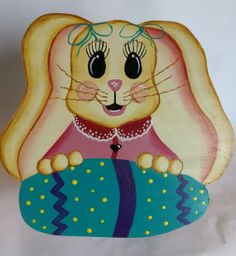 Easter Bunny Cookie Jar Lid by MTDesignsCrafts on Etsy, $20.00