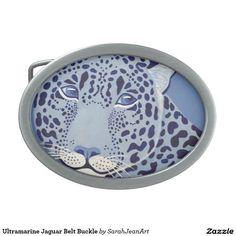 Ultramarine Jaguar Belt Buckle