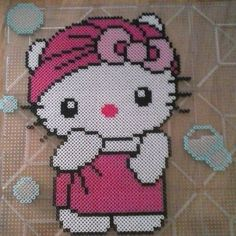 Hello Kitty perler beads by eenafets