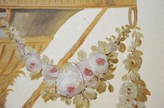 Hand painted decoration for the pavillion at Small Trianon, Versailles