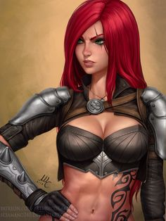 Katarina - LoL, Mirco Cabbia on ArtStation at https://www.artstation.com/artwork/zRxJZ - More at https://pinterest.com/supergirlsart League of Legends #leagueoflegends #lol #fanart