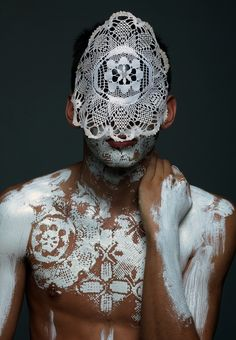 I could see this as a mood board image - something that combines frou frou frothy and primal native rawness.