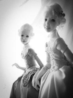 """La Noblesse"". Handmade OOAK dolls. Ooak Dolls, Art Dolls, Noblesse, Handicraft, Romantic, Statue, Black And White, Handmade, Decor"