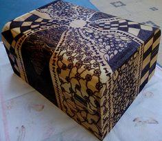 Caixa de madeira 30x14.5cm