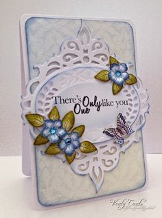 Card created using Heartfelt Creations Birds and Blooms papers and flowers, Everyday heroes sentiment and Spellbinders Victorian Garden Majestic Oval die. Made by Liz Walker