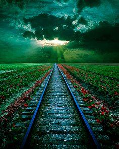 Rail Sunset,Romania