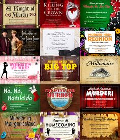 Download a FREE invitation to a murder mystery party here