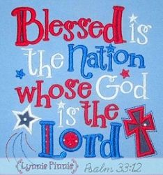 Blessed Nation Applique - 4 Sizes! | 4th of July | Machine Embroidery Designs | SWAKembroidery.com Lynnie Pinnie