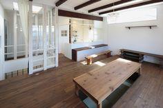 池下建設が自社で造った家具です。 堀こたつ