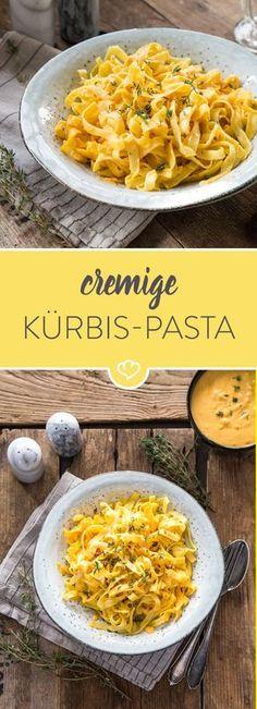 Hier ist Butternut-Kürbis die Basis für eine cremige Pastasauce - inspiriert von einem Klassiker: der Pasta Alfredo. Noch Lieblingsnudeln dazu und fertig.