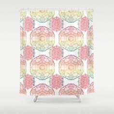 Beautiful Shower Curtain  Rainbow Mandalas  by ArtfullyFeathered