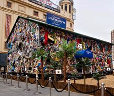 Everyone loves a beach vacation but no one likes a coastline covered in trash. That was the inspiration for German artist HA Schult, who created a mobile hotel from 13 tons of trash collected from European beaches in 2010. (It's been spotted in Madrid, among other locations.)