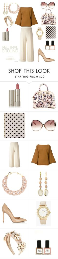 """Neutral Look"" by briestaker ❤ liked on Polyvore featuring Ilia, Tory Burch, Kate Spade, Balenciaga, Delpozo, Sonia Rykiel, DIANA BROUSSARD, Panacea, Gianvito Rossi and Chico's"