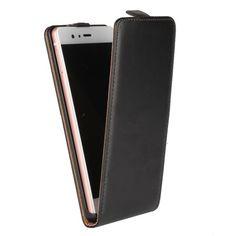 Zwart flipcase hoesje voor Huawei P9 Lite