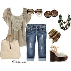 Outfit, maybe not the wedge shoes, I trip a lot... :/ They are cute, though.