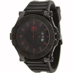 Meister Prodigy Stainless Steel with Rubber Band Watch in black