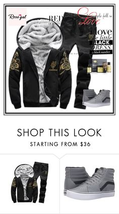 """Rose gal  61"" by fatimazbanic ❤ liked on Polyvore featuring Vans, The Art of Shaving, WALL, men's fashion and menswear"