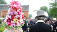 Hats off to Royal Ascot , Wow to this hat! I'd love to see the front .
