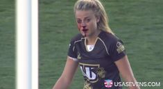 USA Sevens Rugby shared a video of Page with blood pouring down her face, and dubbed her the �Rugby War Goddess.� The video soon blew up online. | The �Rugby Hottie� Wants All Girls To Know They Are Just As Tough - BuzzFeed News