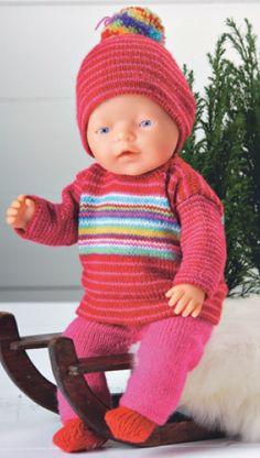 Stribet dukkesæt | Familie Journal