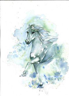 Blue horse by gulbin -  Wow....   :)